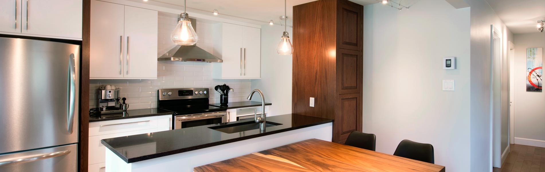 Cr ations folie bois armoires de cuisines en mdf laqu for Cuisine mdf laque