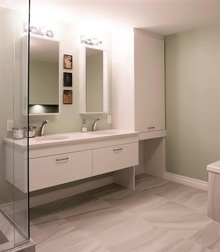 Salles de bain cr ations folie bois rive sud salles for Salle de bain st jean