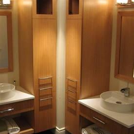 Salles de bain cr ations folie bois rive sud salles de bain - Lingerie salle de bain ...