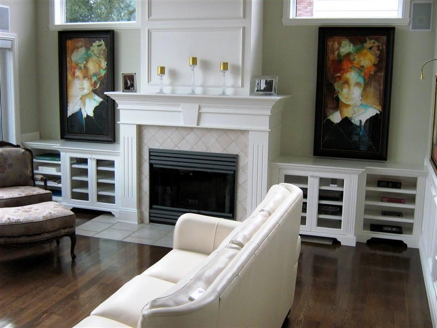 Salon Avec Foyer Mural : Réalisations créations folie bois rive sud
