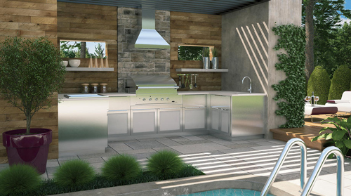 Cuisines ext rieurs patio terrasse cr ations folie bois cuisines ext rieures - Fabriquer cuisine exterieure ...